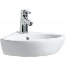 LAUFEN PRO rohové umývátko 440x380mm s otvorem, s přepadem, bílá LCC