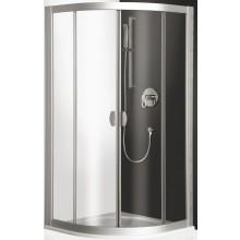 Zástěna sprchová čtvrtkruh Roltechnik plast ECR2 800x1850mm bílá/čiré