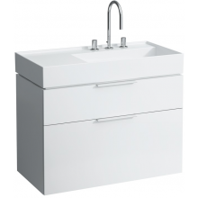 LAUFEN KARTELL BY LAUFEN skříňka pod umyvadlo 893x455x617mm se dvěma zásuvkami, bílá 4.0760.2.033.631.1