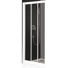 ROLTECHNIK CLASSIC LINE PD3N/1000 sprchové dveře 1000x1850mm posuvné s oboustranným vstupem pro instalaci do niky, bílá/transparent