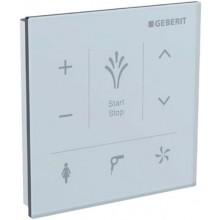 GEBERIT nástěnný ovládací panel 9,3x1,3x9,3cm, ke Geberit AquaClean, sklo, bílá