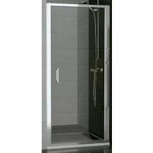 SANSWISS TOP LINE TOPP sprchové dveře 1000x1900mm, jednokřídlé, matný elox/sklo Cristal perly