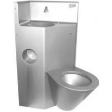 AZP BRNO BSK 02.KP kombi set 510x1000mm, toaleta a umyvadlo, bezpečnostní, nerez