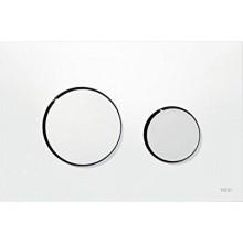TECE LOOP ovládací tlačítko 216x145mm, dvoumnožstevní splachování, bílá/chrom