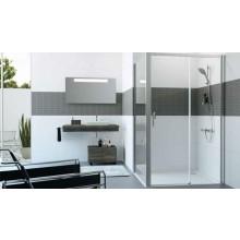 HÜPPE CLASSICS 2 EASYENTRY GT1200 posuvné dveře 1200x2000mm 1-dílné s pevným segmentem, upevnění vpravo, stříbrná pololesklá/sklo čiré AntiPlaque