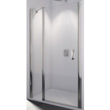 SANSWISS SWING LINE SL13 sprchové dveře 1200x1950mm jednokřídlé, s pevnou stěnou v rovině, bílá/čiré sklo