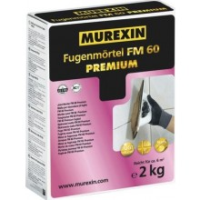 MUREXIN FM 60 PREMIUM spárovací malta 2kg, flexibilní, s redukovanou prašností, silbergrau