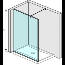 JIKA PURE pevná stěna 1300mm, transparentní 2.6742.4.002.668.1