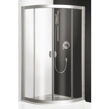 Zástěna sprchová čtvrtkruh Roltechnik sklo ECR2/900R550-01-14 900mm R550 Elox/Rauch