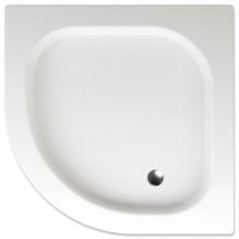 TEIKO FLORES sprchová vanička 90x90x8cm, R50cm, čtvrtkruh, akrylát, bílá