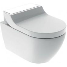 GEBERIT AQUACLEAN TUMA COMFORT WC závěsné 36x55,3x44,6cm, kompletní, sklo, bílá