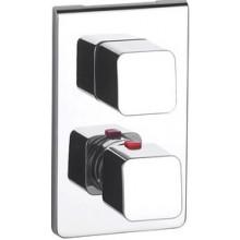 ROCA THESIS vrchní sada vanové-sprchové termostatické podomítkové baterie s přepínačem, chrom