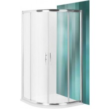 ROLTECHNIK PROXIMA LINE PXR2N/800 sprchový kout 800x1850mm R550 čtvrtkruh, s dvoudílnými posuvnými dveřmi, brillant/transparent