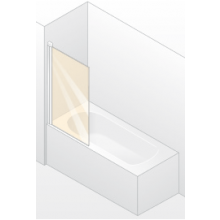 Zástěna vanová Huppe - Design elegance 750x1500 mm bílá/čiré