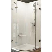 RAVAK BRILLIANT BSKK3 90 L sprchový kout 900x1950mm, R500, čtvrtkruhový, třídílný, chrom/transparent