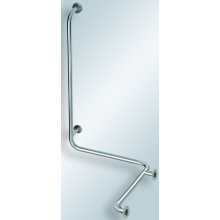 AZP BRNO REHA madlo sprchy 672x789x1100mm s hl. svisl. opěrou, nerez lesk