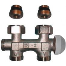 HERZ TS-3000 šroubení M30x1,5, Rp1/2xG3/4 přímé, s termostatickým ventilem, s přednastavením, pro dvoutrubkové soustavy