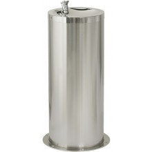 SANELA SLUN23M pitná fontánka, Ø420mm, dětská, na podlahu, nerez