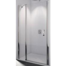 SANSWISS SWING LINE SL13 sprchové dveře 1000x1950mm jednokřídlé, s pevnou stěnou v rovině, matný elox/čiré sklo