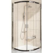 Zástěna sprchová čtvrtkruh Ravak sklo BLIX BLCP4-80 800x1900mm satin/grape