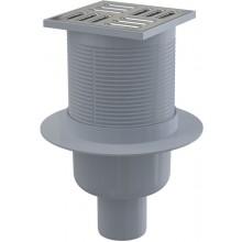 CONCEPT podlahová vpust s nerezovou mřížkou, přímá 105x105/50mm