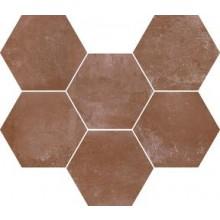 MARAZZI COTTI D'ITALIA dlažba 21x18,2cm, šestihran, teracotta