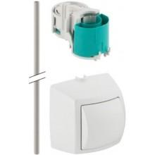GEBERIT ovládání splachování WC 10,9x8,2x11,2cm, na omítku, ruční/pneumatické, chrom lesk