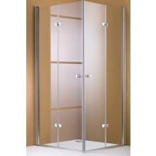 Zástěna sprchová dveře Huppe sklo 501 Design Levé 190x90 střmatná/sklo+antiplaq
