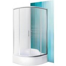 ROLTECHNIK BUFFALO NEO/900 sprchový kout 900x1650mm R550 čtvrtkruh, s posuvnými dveřmi, brillant/potisk