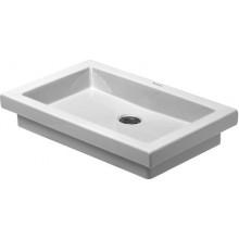 Umyvadlo klasické Duravit bez otvoru 2nd floor bez přetoku 580x415 mm bílá