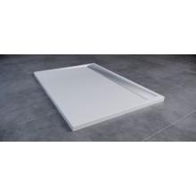 Vanička litý mramor Ronal obdélník ILA včetně sifonu a krytu 800x1200 mm aluchrom/bílá