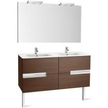 Nábytek sestava Roca Pack Victoria-N skříňka s dvojumyv.+zrcadlo s osvět. 120 cm bílá