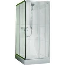 CONCEPT 50 sprchové dveře 800x800x1850mm posuvné, rohový vstup 2 dílný, stříbrná/čiré sklo PT620101.069.321