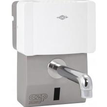 """AZP BRNO AUM 6 umyvadlová baterie G1/2"""" s průtokovým ohřívačem Clage, automatická, nerez"""