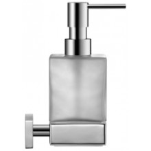 Doplněk dávkovač Duravit Karree tekutého mýdla  chrom/sklo mat