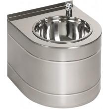 SANELA SLUN14EB pitná fontánka 330x380x300mm, závěsná, bateriová, s automaticky ovládaným výtokem, nerez lesk