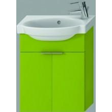 JIKA TIGO skříňka s umývátkem 415x165x535mm se 2 dvířky, zelená 4.5510.3.021.156.1