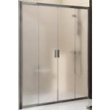 RAVAK BLIX BLDP4 140 sprchové dveře 1400x1900mm čtyřdílné, posuvné bright alu/grape 0YVM0C00ZG