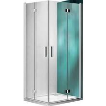 ROLTECHNIK TOWER LINE TZOL1/900 sprchové dveře 900x2000mm levé, zlamovací, bezrámové, brillant/transparent