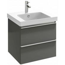 KOHLER REACH skříňka 570x485x530mm pod umyvadlo, 2 zásuvky, gloss grey anthracite 4163K-N14