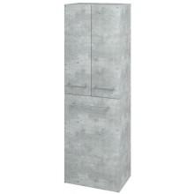DŘEVOJAS Q MAX SVZ 50 K FC vysoká skříň 500x1545x352mm, závěsná,s košem, D01 beton/D01 beton