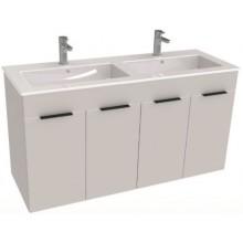 JIKA CUBE skříňka s dvojumyvadlem 1160x422x607mm, 4 dveře, bílá