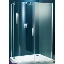 Zástěna sprchová čtvrtkruh Huppe sklo Refresh pure 900x1943 mm titanová stříbrná/čiré AP