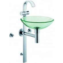 KLUDI JOOP! samonosná baterie, s integrovaným umyvadlem pro WC pro hosty, chrom/čiré sklo