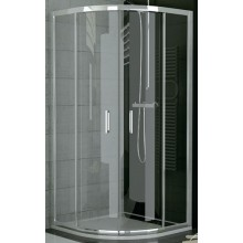 SANSWISS TOP LINE TOPR sprchové dveře 1000x1900mm čtvrtkruhové, s dvoudílnými posuvnými dveřmi, matný elox/čiré sklo