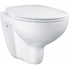 GROHE BAU CERAMIC WC závěsné 368x531mm, bezokrajové, hluboké splachování, sedátko se softclose, bílá