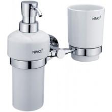 NIMCO UNIX držák se skleničkou s dávkovačem 205x197x94mm chrom/bílá UN 1305831K-26