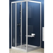 Zástěna sprchová dveře Ravak sklo APSS-pevná stěna 80 satin/grape