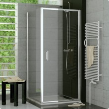SANSWISS TOP LINE TOPF boční stěna 900x1900mm, aluchrom/Durlux Aquaperle