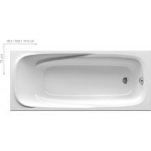 RAVAK VANDA II 170 klasická vana 1700x700x430mm akrylátová, obdélníková bílá